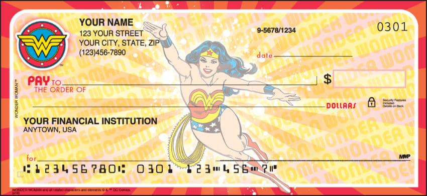 Wonder Woman Comics Checks - click to view larger image