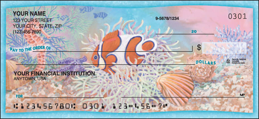 Wonders of the Sea Checks - click to view larger image