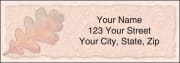 autumn leaf address labels - click to preview