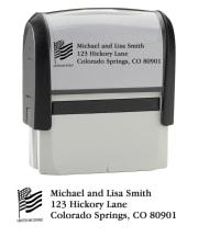 Flag - Return Address Stamp - click to view larger image