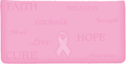 Hope for the Cure Side Tear Checkbook Cover - click to view larger image