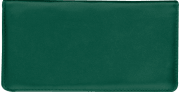 Hunter Green Side Tear Checkbook Cover - click to view larger image