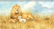 Lion and the Lamb Checkbook Cover - click to view larger image