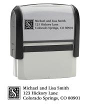Monogram - Return Address Stamp - click to view larger image
