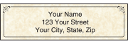 Parchment Address Labels with Monogram – click to view product detail page