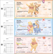 Disney Winnie the Pooh Desk Set Checks - click to view larger image