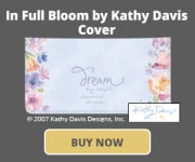 In Full Bloom by Kathy Davis Checkbook Cover