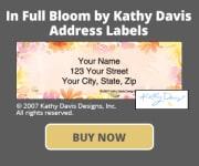 In Full Bloom by Kathy Davis Address Labels