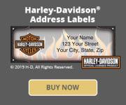 Harley-Davidson Address Labels
