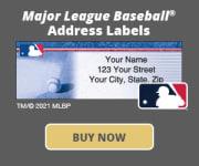 Major League Baseball Address Labels