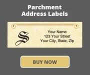 Parchment Address Labels with Monogram