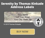 Serenity by Thomas Kinkade Address Labels