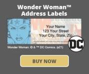 Wonder Woman Address Labels