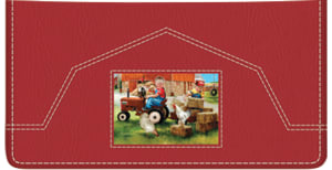 Enlarged view of Barnyard Buddies Checkbook Cover