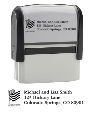 Flag - Return Address Stamp – click to view product detail page