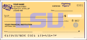LSU® Logo Checks – click to view product detail page