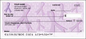 Purple Ribbons of Support Checks – click to view product detail page