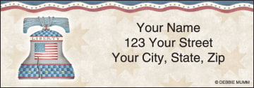 america the beautiful address labels - click to preview