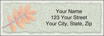 Autumn Leaf Address Labels - click to view larger image