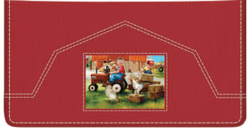 Barnyard Buddies Checkbook Cover - click to view larger image