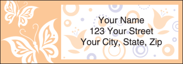 paper butterflies address labels - click to preview