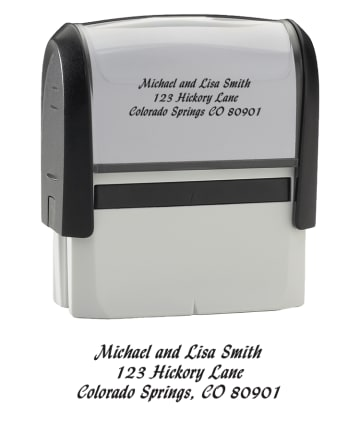 Calligraphy - Return Address Stamp - click to view larger image