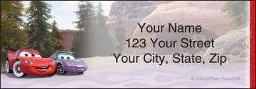 disney pixar cars address labels - click to preview