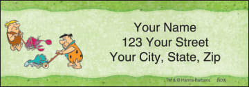 the flintstones address labels - click to preview