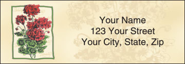 floral sketchbook address labels - click to preview
