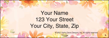 in full bloom by kathy davis address labels - click to preview