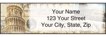 The Grand Tour Address Labels - click to view larger image