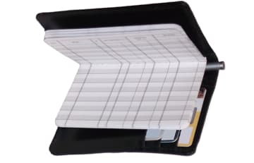 black leather debit organizer - click to preview