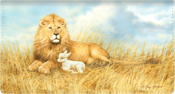 Lion and the Lamb Checkbook Cover – click to view product detail page