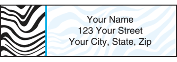neon safari address labels - click to preview