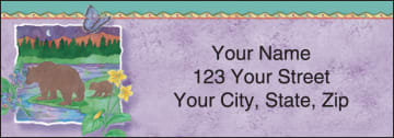 Northwoods by Andrea Tachiera Address Labels - click to view larger image