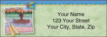 northwoods by andrea tachiera address labels - click to preview