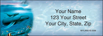 ocean world by wyland address labels - click to preview