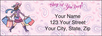 Pampered Girls¿ Address Labels - click to view larger image