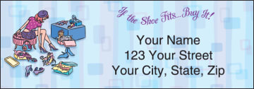 pampered girls¿ address labels - click to preview