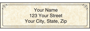 Parchment Address Labels with Monogram - click to view larger image