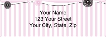 Pretty in Pink Address Labels - click to view larger image