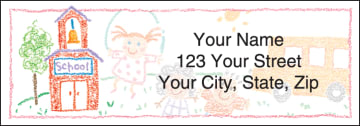 School Memories Address Labels - click to view larger image