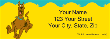 scooby-dooby-doo address labels - click to preview