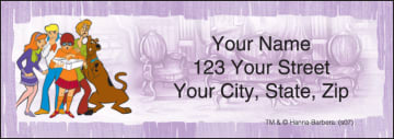 scooby-doo mystery inc address labels - click to preview