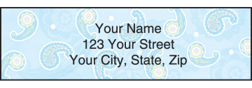Simply Paisley Address Labels – click to view product detail page