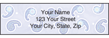 simply paisley address labels - click to preview