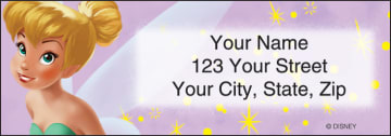 disney tinker bell address labels - click to preview