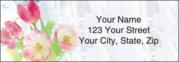 Tulip Whispers Address Labels - click to view larger image