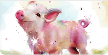 Watercolor Farm Checkbook Cover - click to view larger image