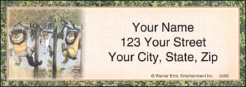 where the wild things are address labels - click to preview